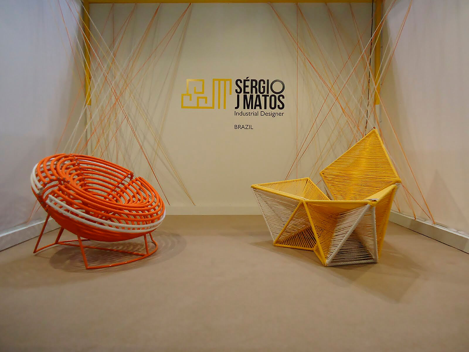 Sérgio J. Matos, 'Balaio' armchair, 2010 (left) and 'Balão' armchair, 2010 (right) at Satellite Salon COURTESY: Sérgio J. Matos