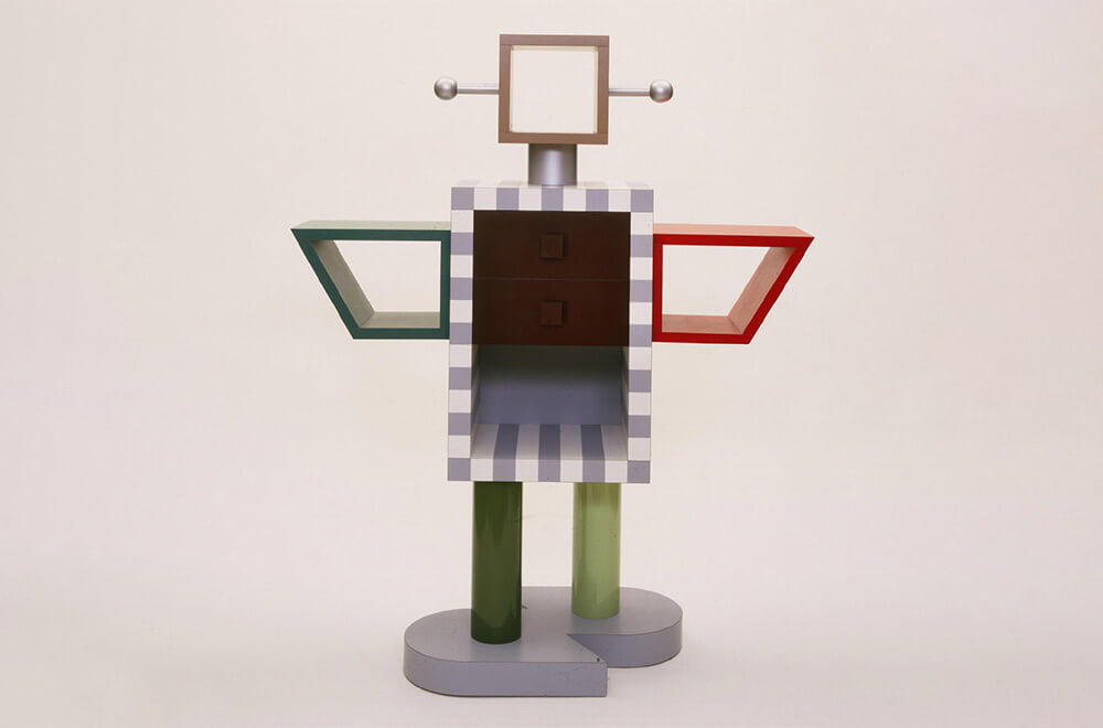 'Ginza Robot' cabinet, 1982 by Adrian Madlener