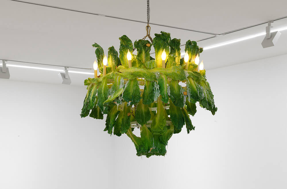 'Caesar Salad Chandelier', 2021 by Leah Buckle