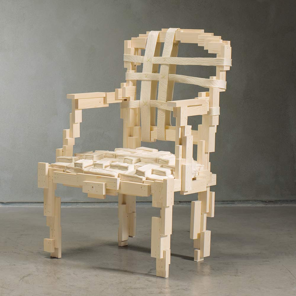 'Pixélisée' armchair, 2008 by TDE Editorial Team